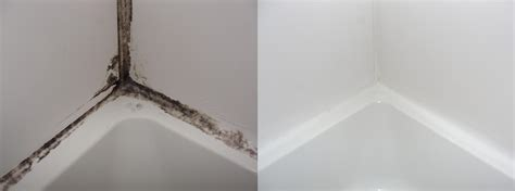 moldy shower caulk fixed