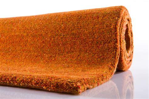 berber teppich casa 15 30 berber teppich uni orange bei tepgo kaufen