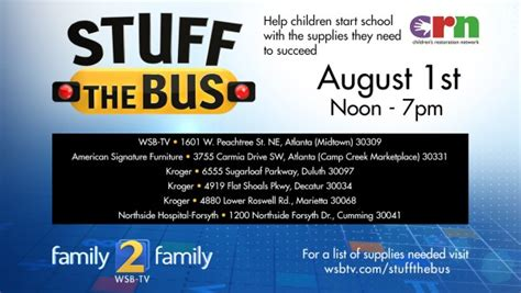 helping  community atlanta stuff  bus event collects school supplies