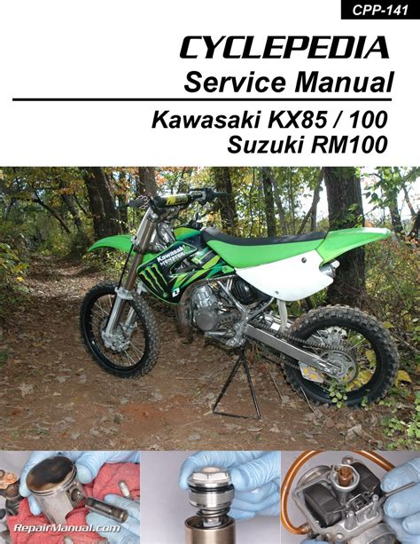 motocross bike repairs kawasaki kx85 kx100 suzuki rm100 cyclepedia printed