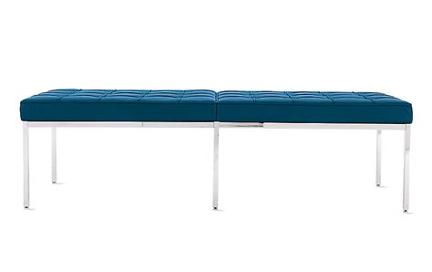 florence knoll bench florence knoll three seater bench in leather design