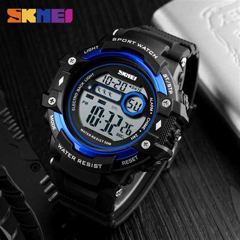 Jam Tangan Digital Skmei Dg1108 skmei jam tangan digital pria 1325 black