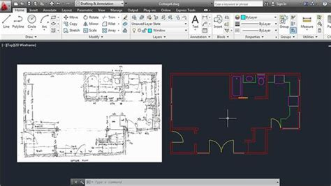 creating an architectural drawing with autocad 2013