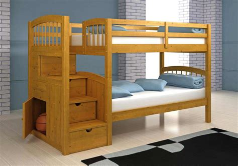 Bunk Bed Plans With Stairs Make Your Own Wooden Bunk Bed Woodworking Projects