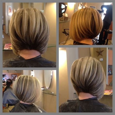 spring bob stacked back view 2015 an always popular hair cut angled bob with slight