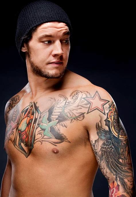 wwe tattoo designs superstar baron corbin makeup and tattoos