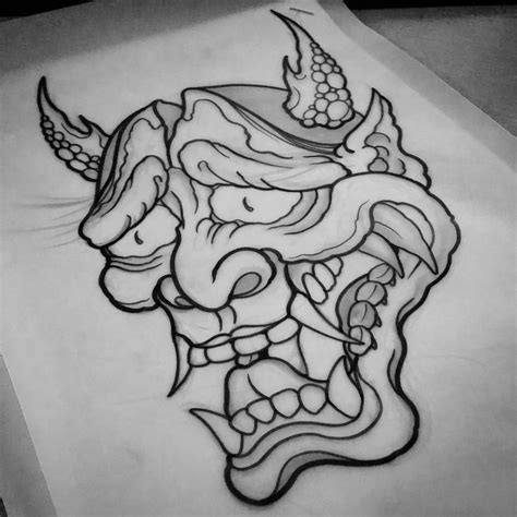 hannya mask tattoo sketch 46 best images about tattoo designs drawings on