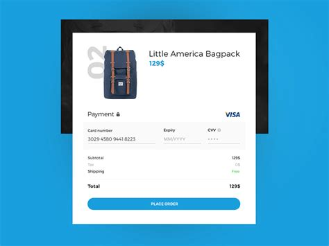 Credit Card Checkout Template by Payment Form Design Inspiration Inspiration Supply Medium