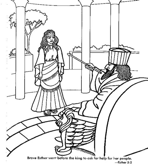 Coloring Page Esther by Esther Saves Coloring Page This Coloring Page
