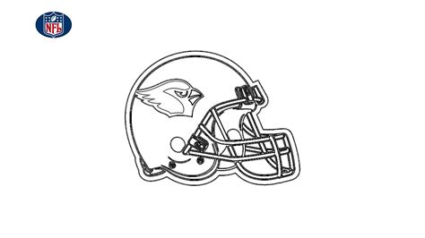 nfl arizona cardinals logo sketch drawing black white  white helmet  hd nfl arizona
