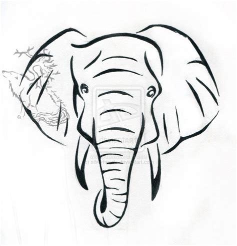 elephant head tattoo black and grey elephant on left finger