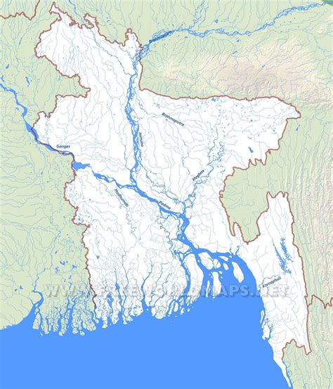geographical map of bangladesh bangladesh physical map