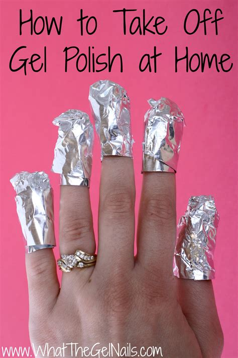 how do you take gel nail at home