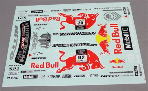 Aufkleber Red Bull Racing by 1 10 Rc Car Truck Racing Drift Decals Stickers Red Bull