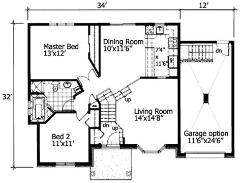 bungalow with twin porches 21488dr 1st floor master suite cad available canadian cottage plan 90216pd 2 bedroom house plan with class bedrooms