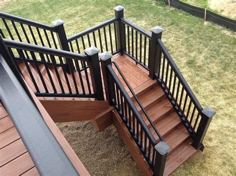 Back Porch Stairs Design Deck Stairs With Landing Porch Design Ideas Image Of Michigan Loversiq