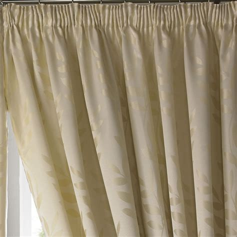 pencil pleat curtain tape tivoli leaf design lined tape top curtains ready made