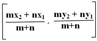 section formula for external division section formula