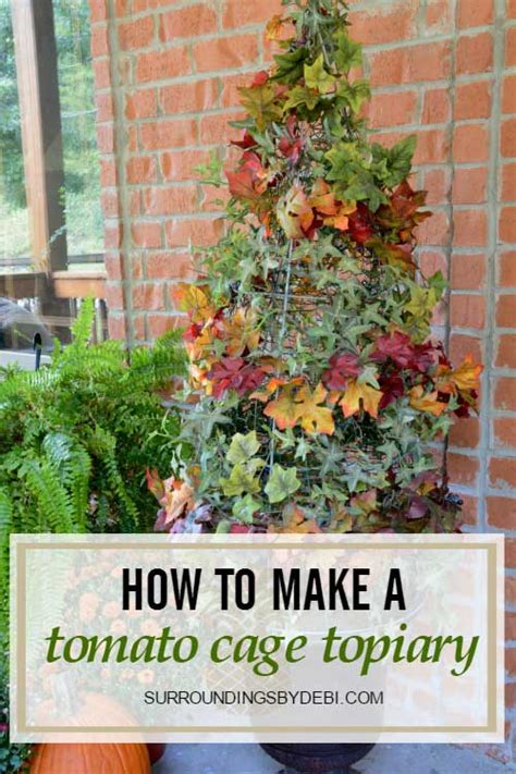 how to create a topiary create a tomato cage topiary surroundings by debi