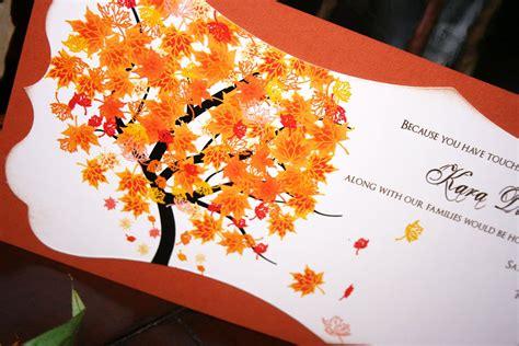 Unique Fall Wedding Invitations by Unique Fall Wedding Invitations Chic Shab