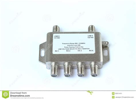 Multi Regulator Tv multi switch stock image image 35311411