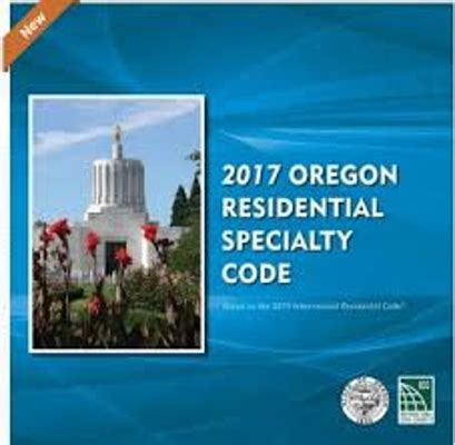 Oregon Plumbing Specialty Code by 2017 Oregon Residential Specialty Code Construction Book Express