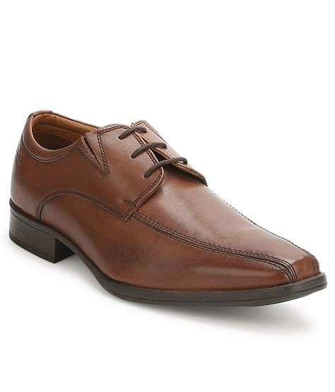 clarks flenk lace brown formal shoes price in india buy