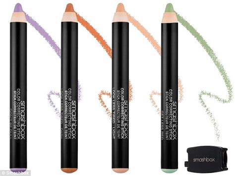 color sticks make up artists shows how green orange and purple