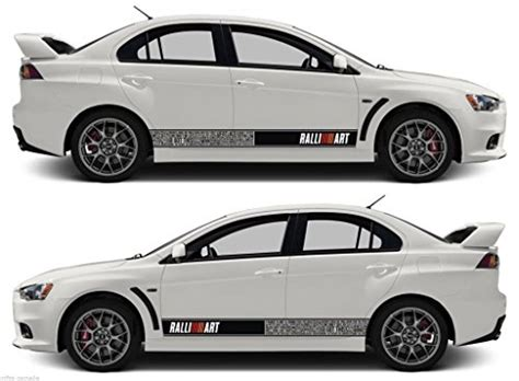 mitsubishi ralliart stickers mitsubishi bomb stripes sticker ralliart mivec lancer