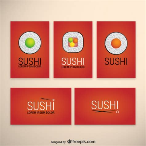sushi menu template sushi templates pack vector free