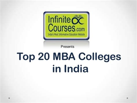 Mba Search India by Top 20 Mba Colleges In India