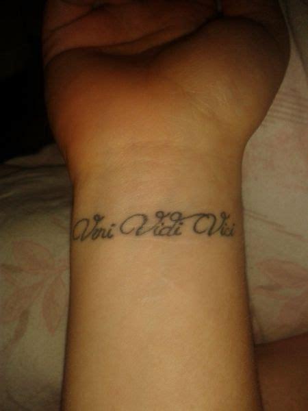 i came i saw i conquered tattoo veni vidi vici i came i saw i conquered