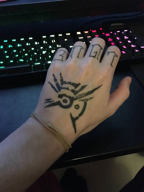 outsider tattoo my broken of the outsider dishonored