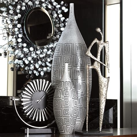 silver home decor vase it home accent pieces ideas pinterest