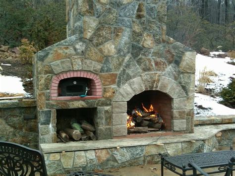 Fireplace Pizza Oven Combo by Outdoor Fireplace Oven Photo