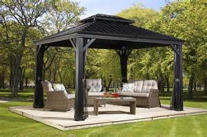 Portland Patio Furniture by Messina Hard Top Gazebos Collections Sojag