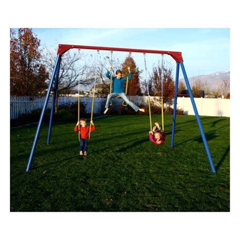 steel swing sets lifetime heavy duty a frame metal swing set primary