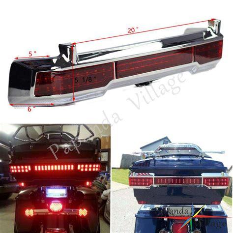 tour pack interior light chrome led tail brake running light for harley touring