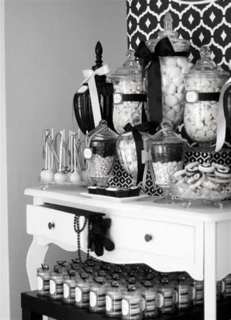 Picture Of Monochrome Candy Buffet Black And White Buffet