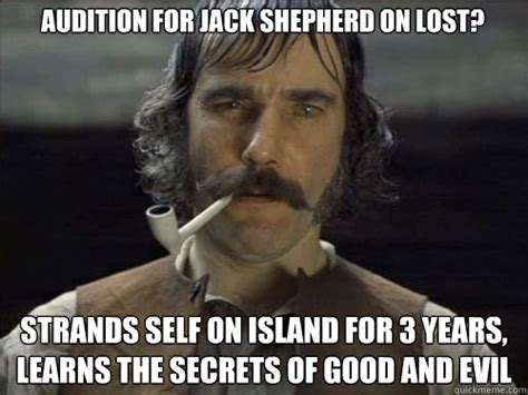 Lost Meme - audition for jack shepherd on lost strands self on island