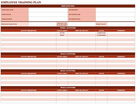 8 training plan samples templates pdf doc