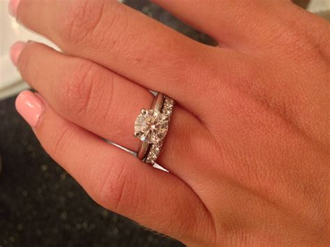 Wedding Ring With Engagement Ring by 15 Best Collection Of Solitaire Engagement Rings With