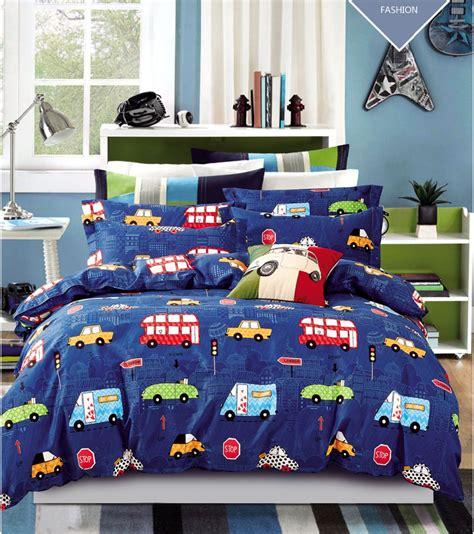 3pcs Cars Bedding Sets Purple Car Bed Sheets Vintage Style Cars Bedding Set