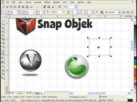 tutorial desain grafis lengkap belajar desain grafis snap objek tutorial pemula
