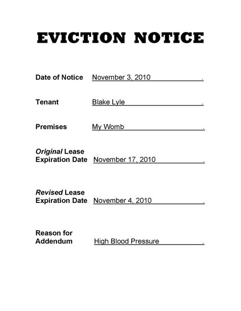 printable eviction notice pa best photos of eviction notices in pa eviction notice