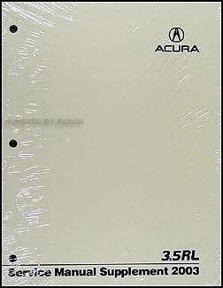 how to download repair manuals 2003 acura rl lane departure warning 1996 2004 acura 3 5 rl body repair shop manual original