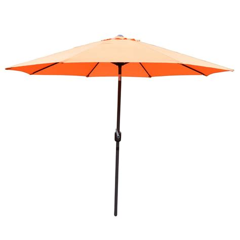 9 Ft Market Patio Umbrella In Natural Y99151 The Home Depot Orange Patio Umbrella