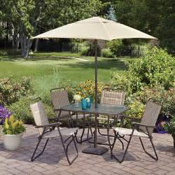 patio table sets folding outdoor: mainstays glenmeadow  piece folding patio dining set with umbrella