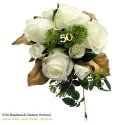 goldene dekoration brautstrau 223 goldene hochzeit aus seidenblumen bestellen