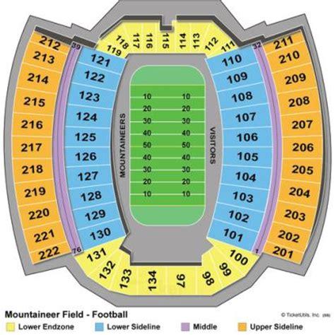 mountaineer field seating chart vipseats mountaineer field tickets